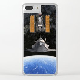 Hubble Rendezvous Clear iPhone Case