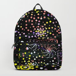 Abstract Mixed Media Series Sea Urchins 07 Backpack