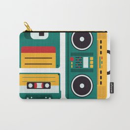 Never Forget Tape Floppy Disk Boom Box Carry-All Pouch