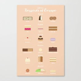 (Some) Desserts of Europe Canvas Print