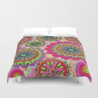 funky Duvet Covers featuring Funky flowers by Shelly Bremmer