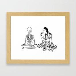 Graveyard Picnic Framed Art Print