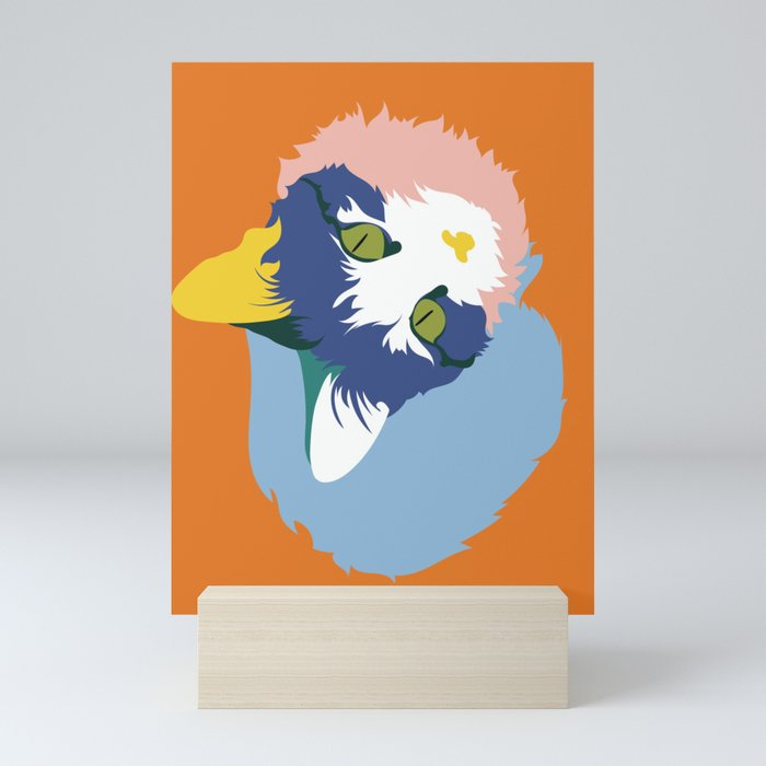 Colorful Cat Mini Art Print