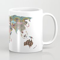 map of the world Mugs featuring Louis Armstrong Told Us So by Bianca Green