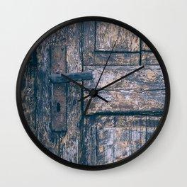 Weathered Wooden Door Wall Clock