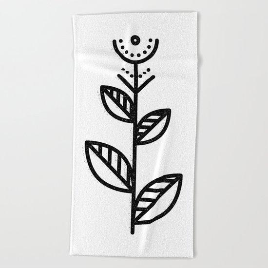 MINIMAL FLOWER Beach Towel