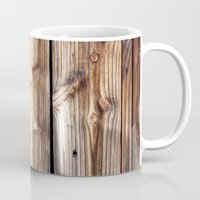 wood Mugs featuring Wood by Patterns and Textures