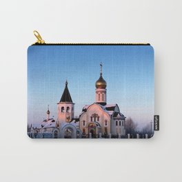 Russian Orthodox church in winter Carry-All Pouch