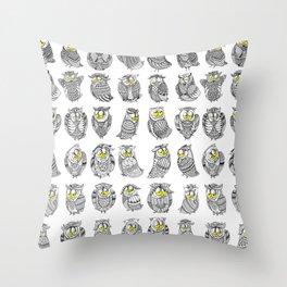 Sleepy Owls Throw Pillow