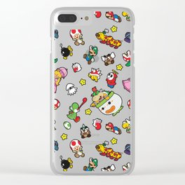 It's a really SUPER Mario pattern! Clear iPhone Case