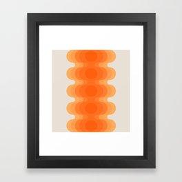 Echoes - Creamsicle Framed Art Print