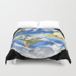 Satellite Image of Earth's Interrelated Systems and Climate Duvet Cover