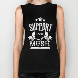 I Support Local Music Biker Tank