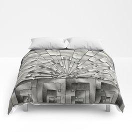 Mercury Glass Art Deco Sunburst Comforters
