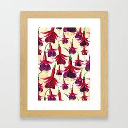 Fuchsia Flowers Feminine Pattern Framed Art Print