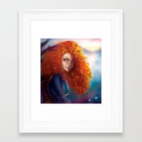 merida Framed Art Prints featuring Merida by ChrySsV