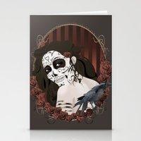 dia de los muertos Stationery Cards featuring Dia de los Muertos by Kretly
