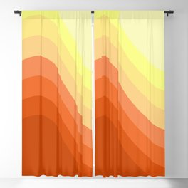 Wavy sunrise Blackout Curtain
