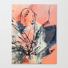 Perennial: abstract floral painting by Alyssa Hamilton Art Canvas Print