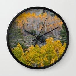 Aspen Fall Foliage Wall Clock