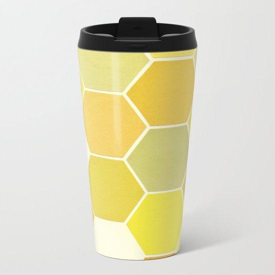 Shades of Yellow Metal Travel Mug