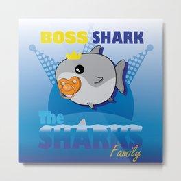 Boss Shark - The Sharks Family Metal Print