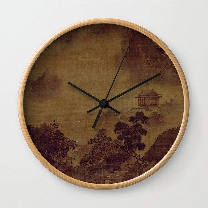 Sesshu Toyo Landscape of Four Seasons - Fall Wall Clock