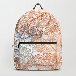 Fall, Leaves Print, Nature Art, Abstract Backpack