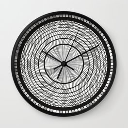 Grey Monochrome Circles Art Wall Clock