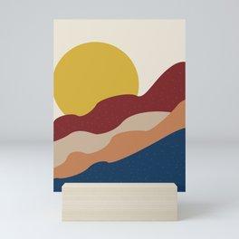 Abstract art sun and colored desert Mini Art Print