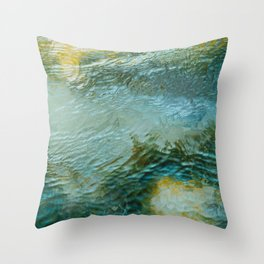 Water color aesthetic Throw Pillow
