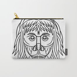 Homo Habilis Face Front Drawing Carry-All Pouch