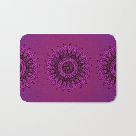 Deep purple mandala Bath Mat