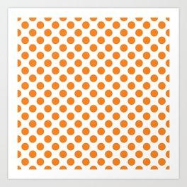 Orange Polka Dots Art Print