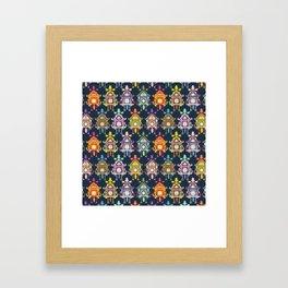 Colorful Cuckoo Clocks Framed Art Print