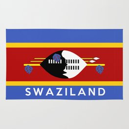 Swaziland country flag name text Rug