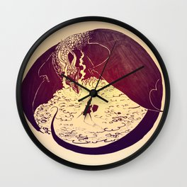 Defensive Dragon Wall Clock