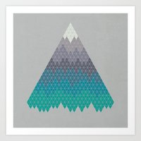 geology Art Prints featuring Many Mountains by Rick Crane