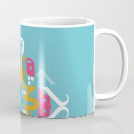 Blue Arabic Coffee Mug