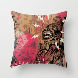 SHOCKING TERRORS Throw Pillow