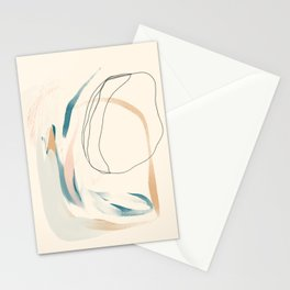 Abstract Lines On Cream. Stationery Cards
