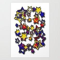 Many Stars Art Print