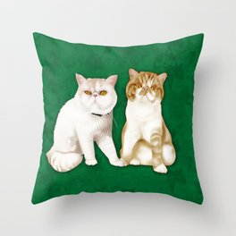 Teagues and Oliver Throw Pillow