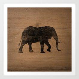 African Elephant Silhouette(s) Art Print