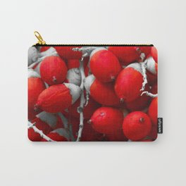 Manila Palm Red Carry-All Pouch