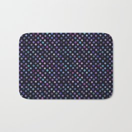Retro Colored Dots Material Bath Mat