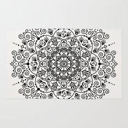 Moroccan Mandala – Black Ink Rug