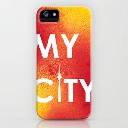MyCity-Berlin-RedYellowA iPhone Case
