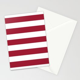 University of Alabama Crimson - solid color - white stripes pattern Stationery Cards