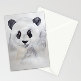 panda watercolour illustration Stationery Cards